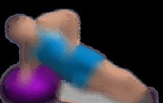 allenamento abduttore alzate laterali gamba su bosu