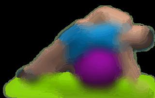 allenamento abduttori alzate gamba esterna sdraiato stability ball