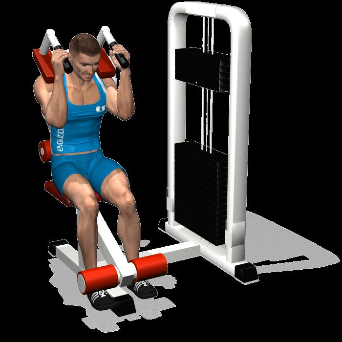 allenamento addominali chiusure abdominal machine fine