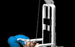 allenamento addominali crunch ai cavi fine