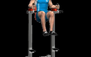 allenamento addominali alzate gambe 90 alle parallele fine