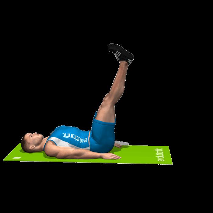 allenamento addominali leg raise fine