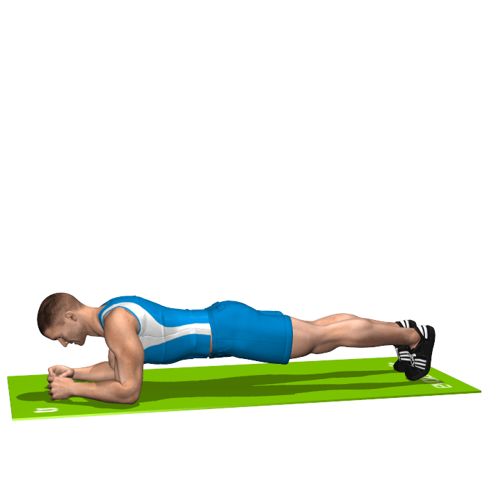 allenamento addominali plank inizio