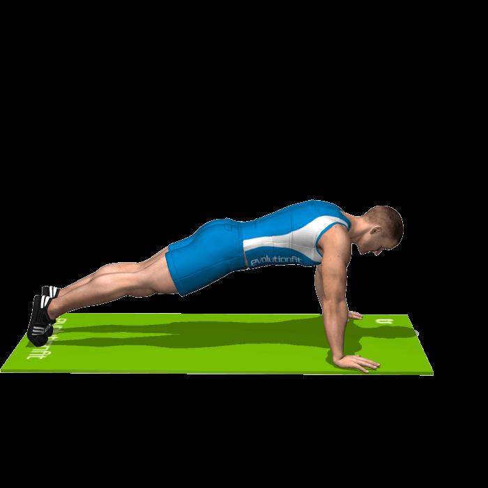allenamento addominali plank superman inizio
