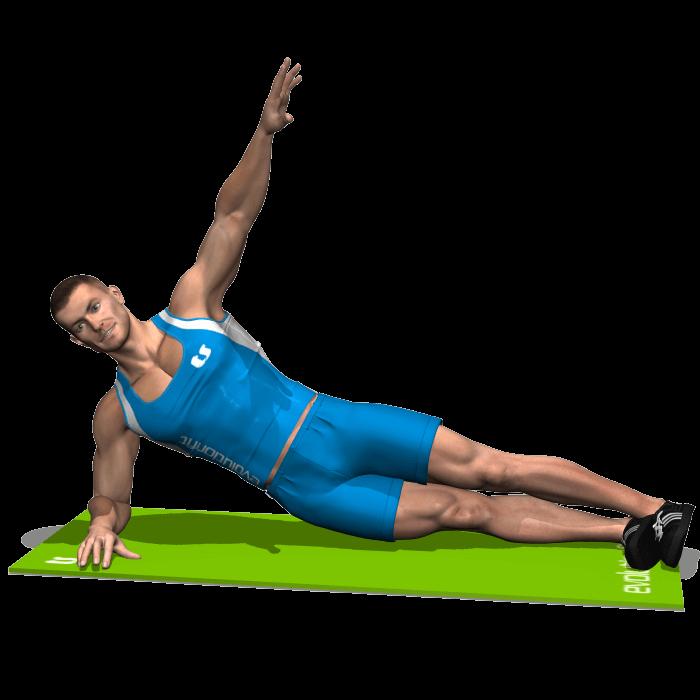 allenamento addominali side plank inizio