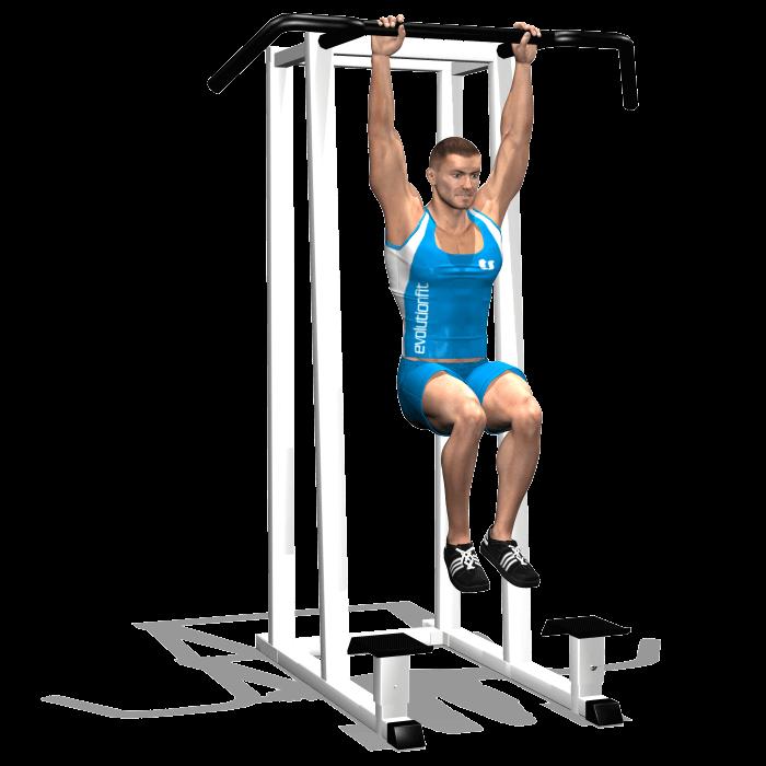 allenamento addominali sollevamento gambe 90 alla sbarra inizio