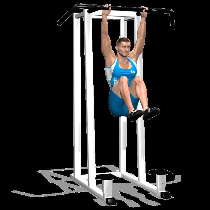 allenamento addominali sollevamento gambe 90 alla sbarra fine