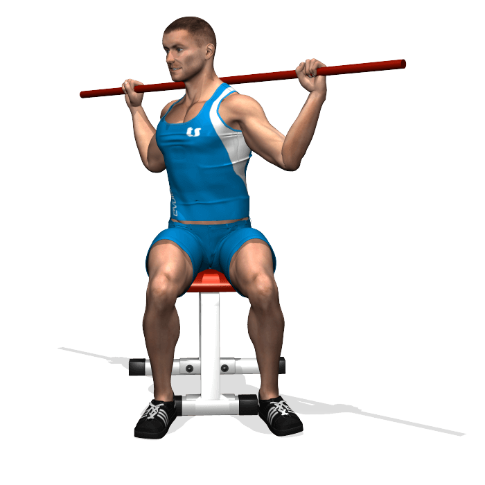 allenamento addominali rotazione bastone seduto inizio