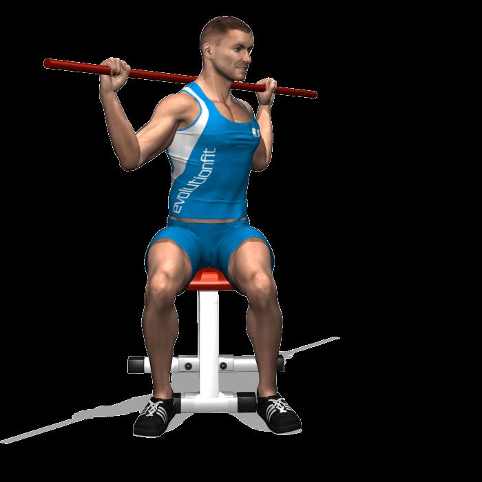 allenamento addominali rotazione bastone seduto fine