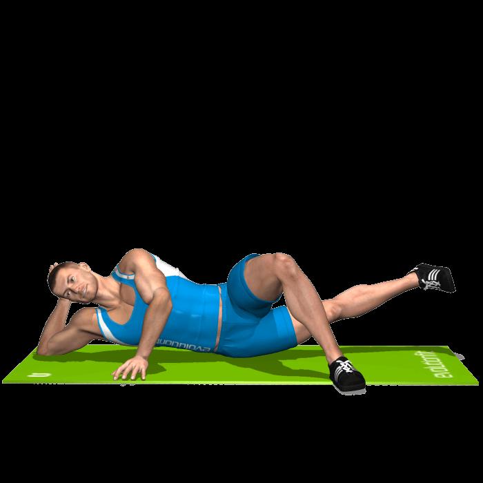 allenamento adduttori spinte gamba interna sdraiato fine