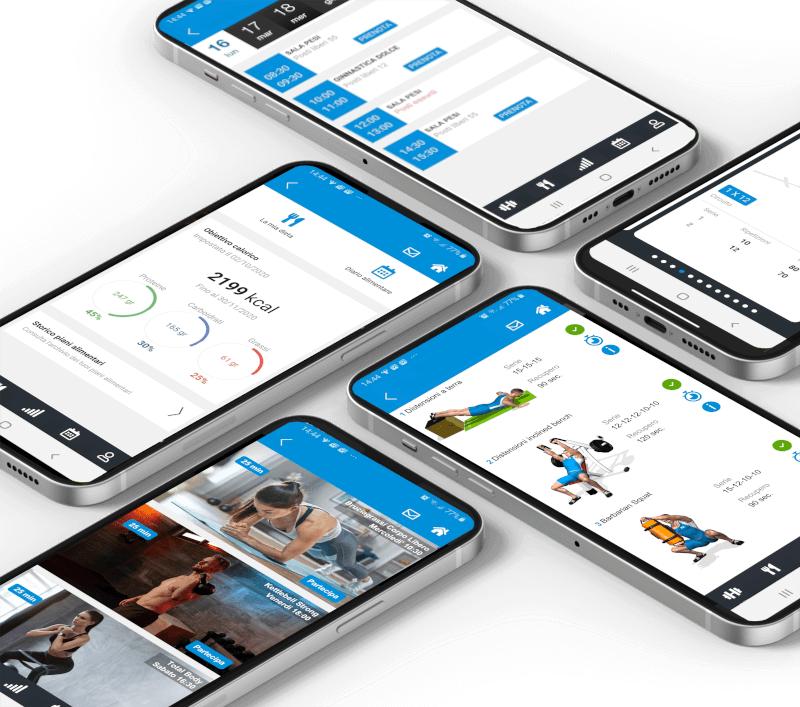 app evolutionfit allenamento,alimentazione,prenotazioni e streaming