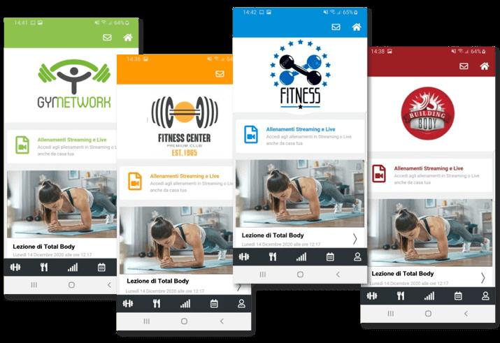 app evolutionfit personalizzata palestra personal trainer