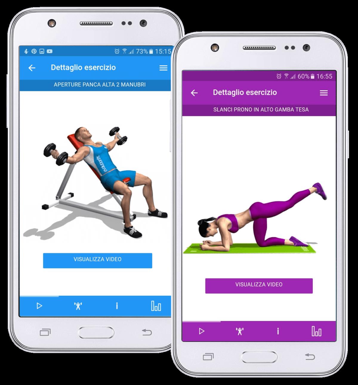 app schede allenamento per uomo e donna