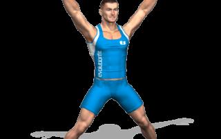 allenamento cardio jumping jack fine