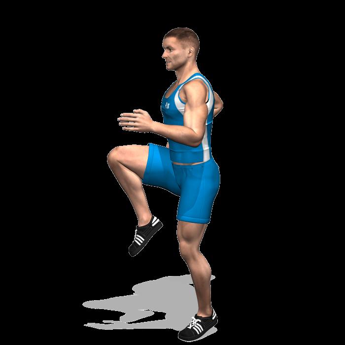 allenamento cardio skip alto fine
