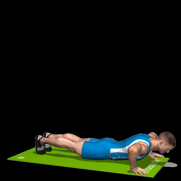 allenamento cardio distensioni a terra con raccolta gambe inizio