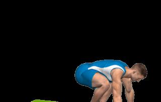 allenamento cardio distensioni a terra con raccolta gambe fine