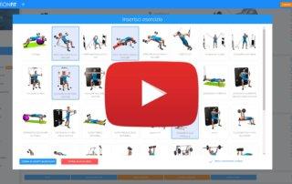 Inserimento multiplo esercizi programma allenamento