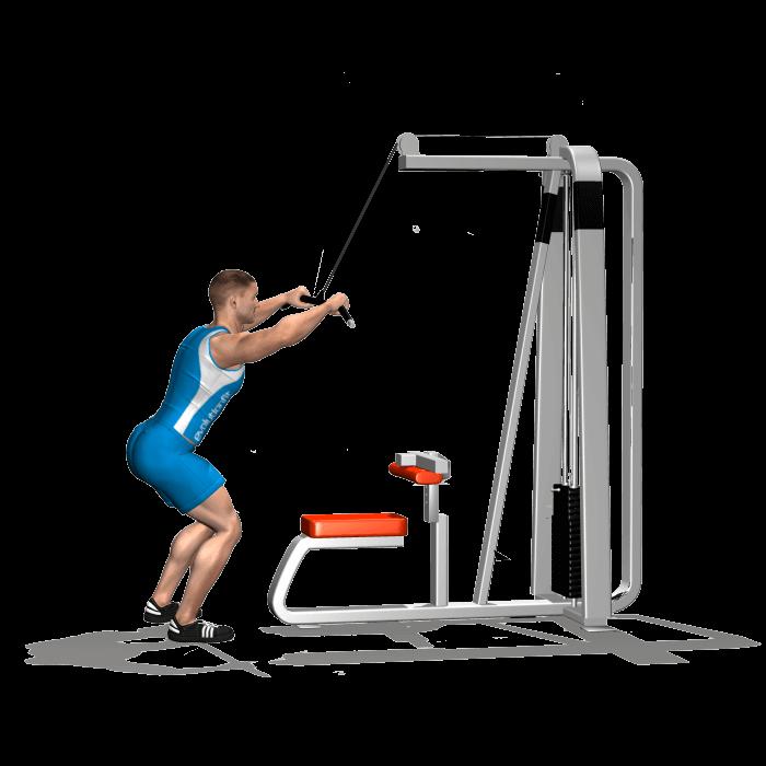 allenamento dorsali chiusure lat machine inizio