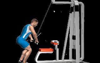 allenamento dorsali chiusure lat machine fine