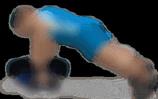 allenamento dorsali rematore 1 manubrio in appoggio su bosu