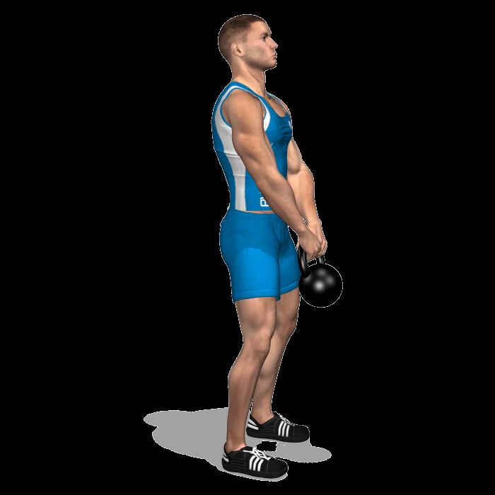 allenamento dorsali stacchi 1 kettlebell inizio