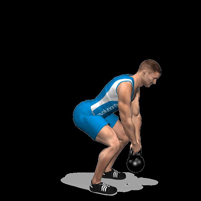 allenamento dorsali stacchi 1 kettlebell fine