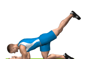 allenamento glutei slanci prono in alto gamba tesa fine