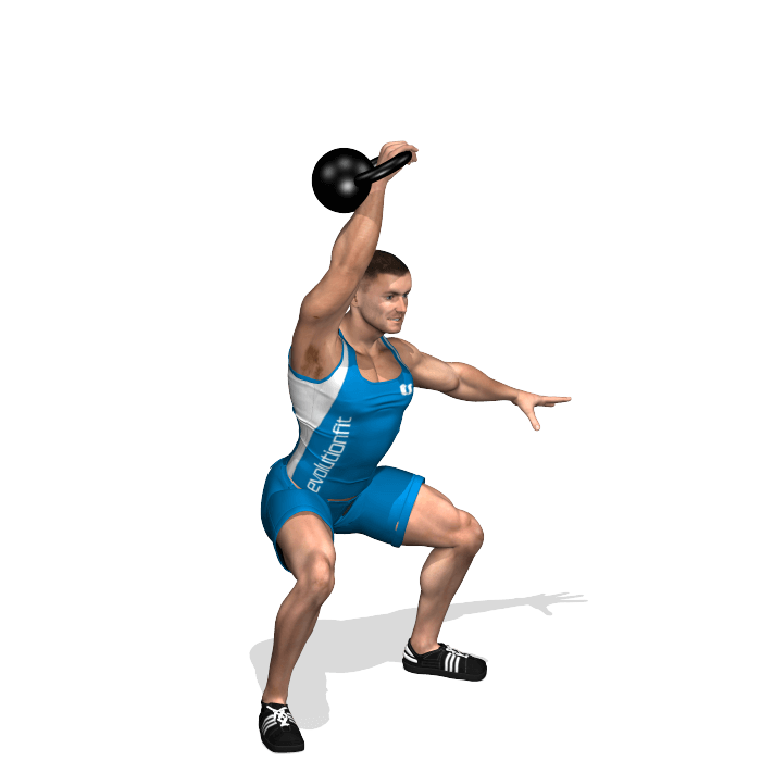 allenamento total body clean and press jerk con kettlebell fine