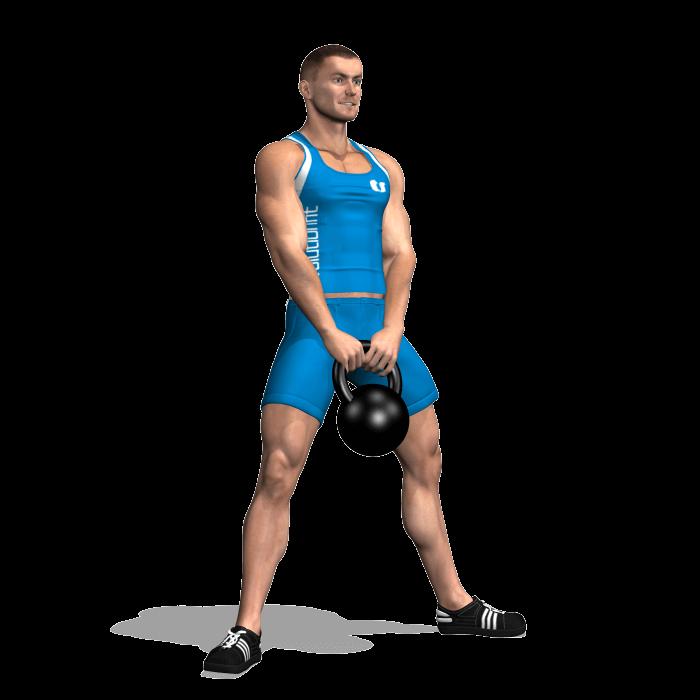 allenamento glutei sumo squat kettlebell inizio