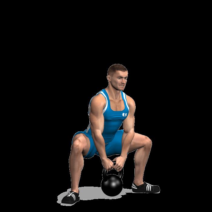 allenamento glutei sumo squat kettlebell fine