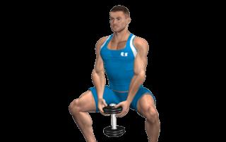 allenamento glutei sumo squat manubrio fine