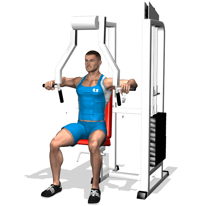 allenamento pettorali chest press, inizio