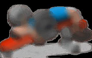 allenamento pettorali spinte pacca bassa bilanciere