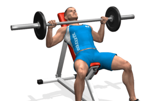 allenamento pettorali spinte panca alta bilanciere, inizio