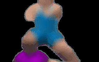 allenamento quadricipiti affondi laterali su bosu