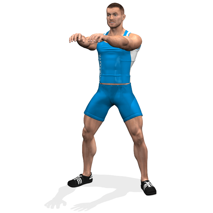 allenamento quadricipiti squat sumo corpo libero inizio