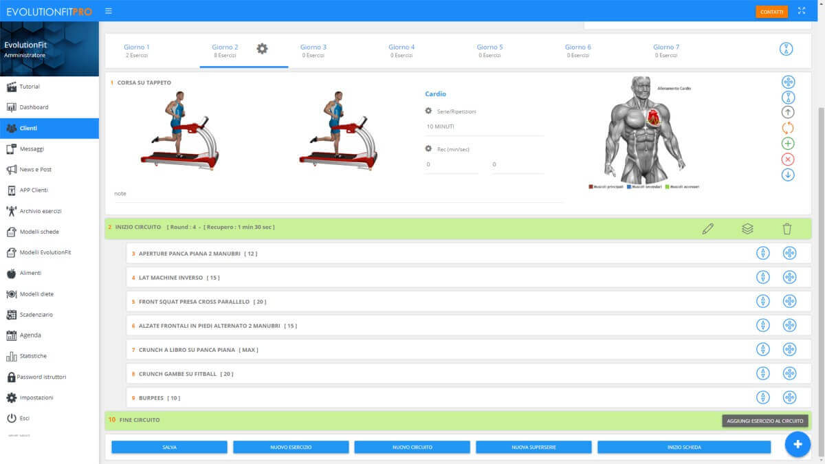 Screenshot con circuit training