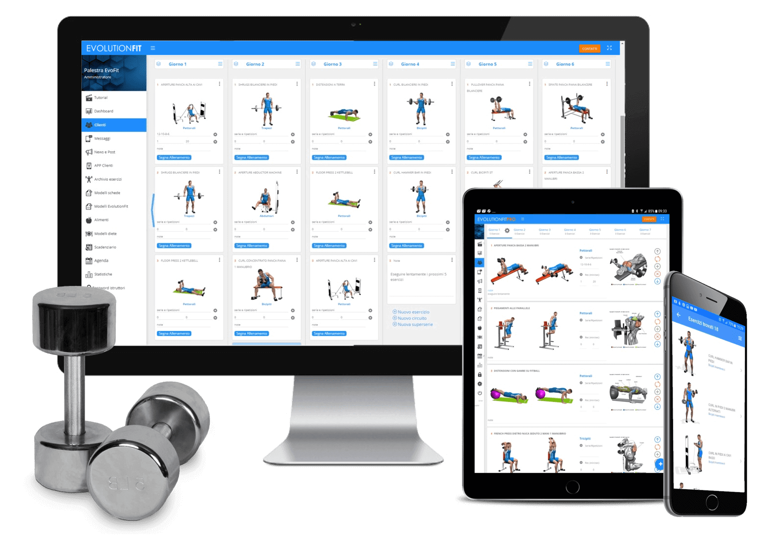 Software schede allenamento personal trainer