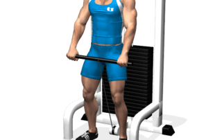 allenamento spalle alzate frontali cavi inizio