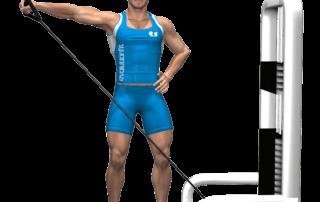 allenamento spalle alzate laterali singolo cavo fine