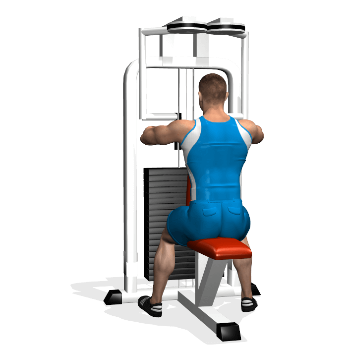 allenamento spalle aperture peck inizio