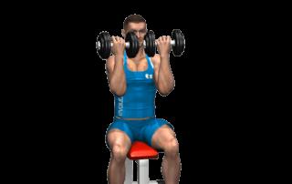 allenamento spalle arnold press fine