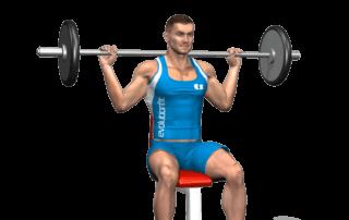 allenamento spalle lento dietro seduto bilanciere inizio