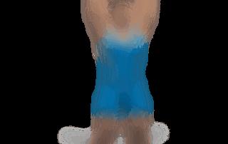 allenamento spalle lento 2 manubri in piedi