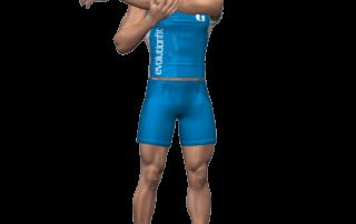 allenamento stretching-allungamento deltoide braccio teso avanti fine
