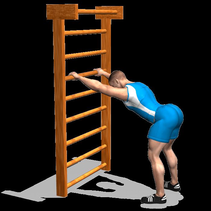 allenamento stretching flessione del corpo in appoggio inizio