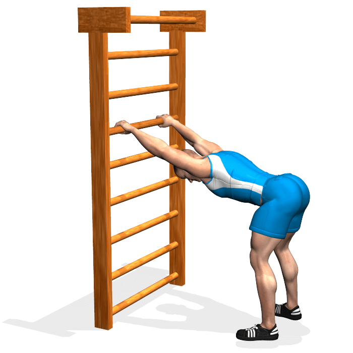 allenamento stretching flessione del corpo in appoggio fine