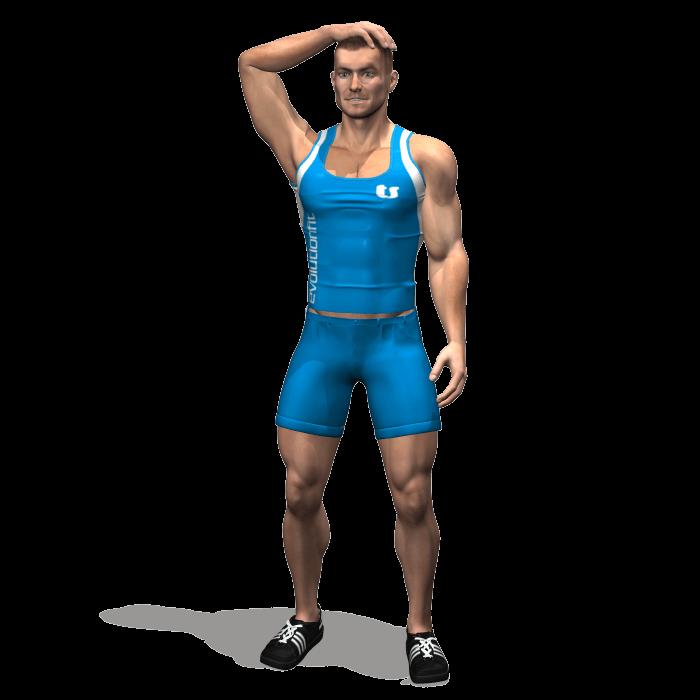 allenamento stretching allungamento collo laterale in piedi inizio