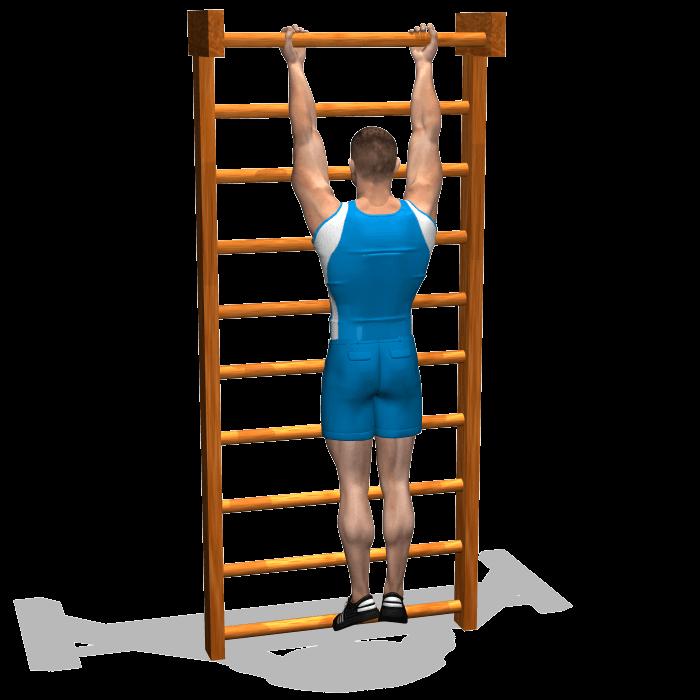 allenamento stretching sospensione alla sbarra in suinazione inizio